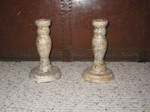 SHABBY-CHIC Decorative Candlesticks--Classical Sheet Music Modge Podge in Plano, Texas
