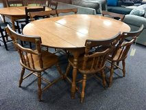 Table with 6 Chairs and 2 Leaves in Camp Lejeune, North Carolina