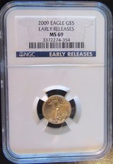 2009 $5 Gold Eagle Early Release NM MS69 in Ramstein, Germany