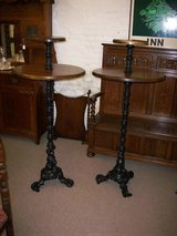 Antique poser pub tables in Lakenheath, UK
