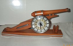 Rare Artillary Cannon Clock by Howard Clock Company in Great Lakes, Illinois