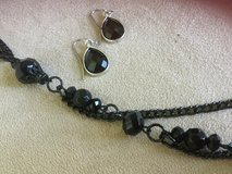 "Black 32"" necklace +earrings set-NEW CREDIT CARDS ACCEPTED!!! in Yorkville, Illinois"