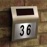 Solar Powered House Number Sign Stainless Steel in Ramstein, Germany