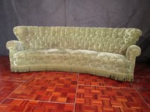 Hand Made Wrap Around Chesterfield Style Green Couch in Ramstein, Germany