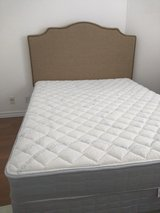 Queen mattress, box spring, frame and headboard in Fort Bliss, Texas