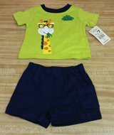 Size 0/3 Months Boys 2pc Giraffe Outfit NWT in Fort Benning, Georgia