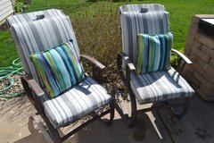 Patio Chairs Outdoor Lawn Furniture Pair Set in Joliet, Illinois