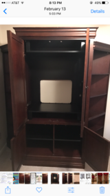 Broyhill Armoire & 2 Shelves in Kingwood, Texas
