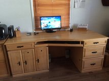 Maple desk and double file cabinet in San Diego, California