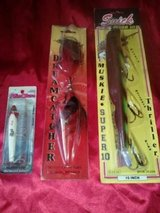 "Old Collectible FISHING LURES 2 ARE 10"" & 1 IS NOT. ALL IN ORIGINAL PACKAGE in Camp Lejeune, North Carolina"