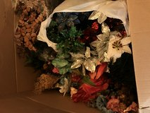 2 Large misc boxes of silk flowers & silk plants in Warner Robins, Georgia
