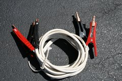 16' 5-gauge Battery Jumper Cables (white) in Chicago, Illinois