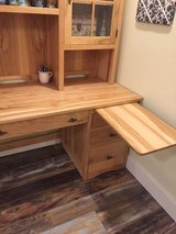 Beautiful Amish made hickory desk and antique chair. in Morris, Illinois
