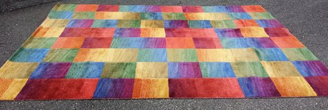Trans Ocean Ombre Boxes Multi Color Wool Pile Area Rug in Fort Belvoir, Virginia