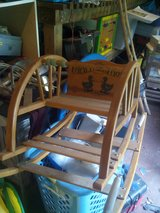 antique wooden baby bouncer/rocker in Camp Lejeune, North Carolina