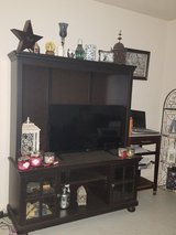 Better Homes And Gardens Espresso Tv Stand with Hutch in Fort Bliss, Texas