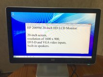 HP 20-Inch HD LCD Monitor w/ built-in speakers. in Conroe, Texas