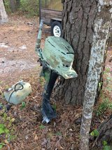 Mercury 4HP outboard engine and gas tank in Camp Lejeune, North Carolina