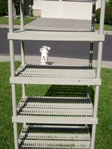 Keter Plastic 5-Tier Shelf, Ventilated Resin Unit, Charcoal (2) in Vacaville, California