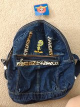 Tweety denim backpack in 29 Palms, California
