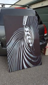 Large zebra picture on canvas in Fort Rucker, Alabama