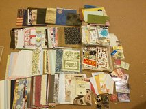 $50 OBO - Scrapbooking supplies lot (paper, stickers,  embellishments,  greeting cards, brads etc) in Okinawa, Japan
