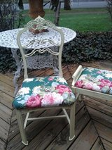 Vintage pretty petite chair with roses fabric in Plainfield, Illinois
