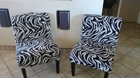 Zebra chairs in Alamogordo, New Mexico