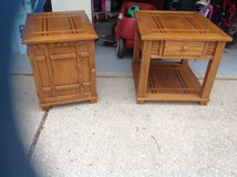 Solid Wooden end tables in Batavia, Illinois