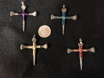 Horseshoe nail cross pendants in Ottumwa, Iowa