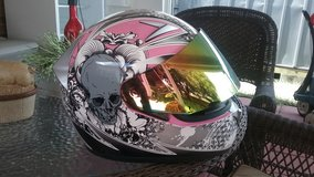 Women Pink and Grey Motorcicle Helmet in Hinesville, Georgia