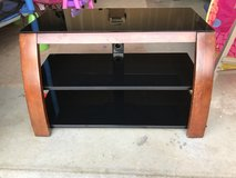 Wood & glass tv stand in Camp Pendleton, California