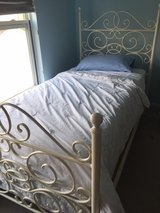 Pottery Barn ivory scroll Twin Bed Frame in Naperville, Illinois
