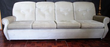 XXL 4 Seater Beige Couch with Wheels in Ramstein, Germany