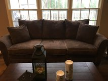 Reduced!!! Living room set ( brown microfiber) in Naperville, Illinois