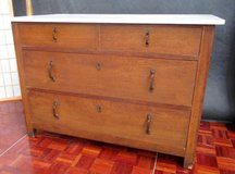 Antique Dresser with Solid White Marble Top. in Ramstein, Germany