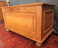 Hand Made Solid Wood Hope Chest dated 1982 in Ramstein, Germany