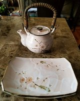 Excellent Condition! Pink Japanese Teapot and Serving Plate in Fort Campbell, Kentucky