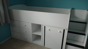 Kids Bed(twin) with Built in Drawers, desk and stairs in Lockport, Illinois
