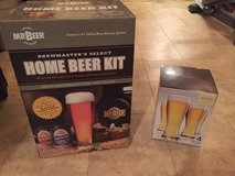 Mr. Beer home beer kit and glasses in Lockport, Illinois