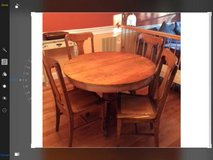 Oak Dining Room Table and 4 Chairs in Fairfax, Virginia