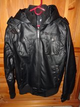 Black Faux Leather Jacket, Southpole in Chicago, Illinois