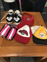 Sports hats, glove, shoes in Perry, Georgia