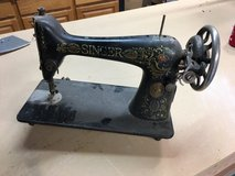 Old singer sewing machine in Travis AFB, California