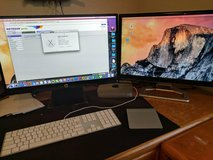 Mac Book Pro Mini with two monitors, trackpad and keyboard in Schofield Barracks, Hawaii