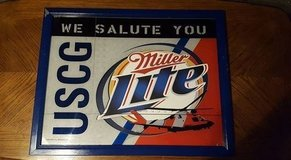 US Coast Guard Miller Lite Framed Poster in Lockport, Illinois