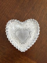 Glass Heart Trinket Box in Chicago, Illinois