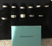 Various Tiffany & Co Silver Rings in 29 Palms, California
