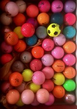 20 beautiful color golf balls mint condition in Chicago, Illinois