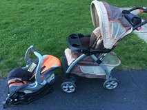 3 Piece Travel System Stroller/Carseat/Base - 2013 in Bartlett, Illinois
